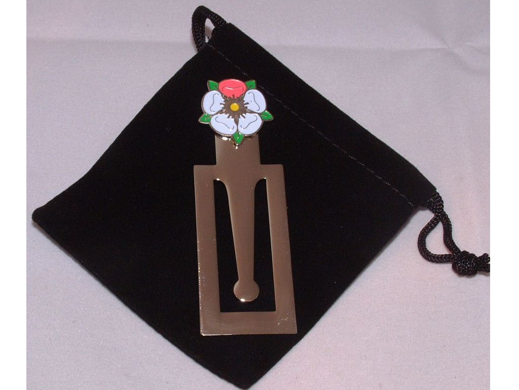Breast Cancer Research Yorkshire Rose bookmark