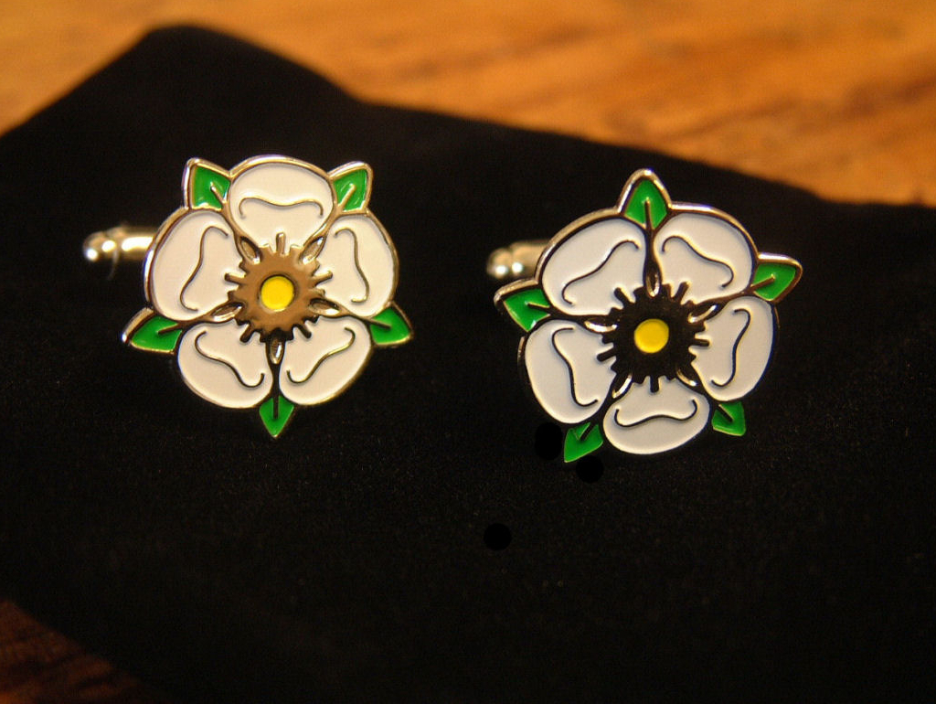 The original enamel Yorkshire Rose cuff links